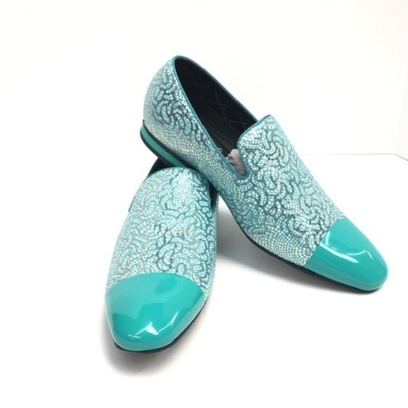 turquoise mens dress shoes